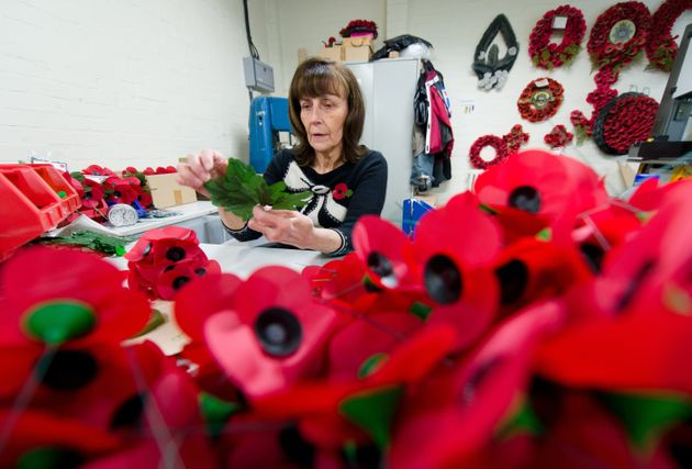 Millions of poppies are produced each year at the Poppy Factory in