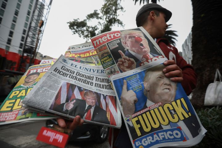 Mexican newspapers report on Trump's victory.