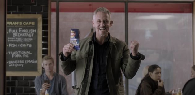Lineker in a Walkers Crisps advert from earlier this