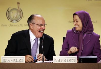 <strong>Rudi Giuliani with Maryam Rajavi</strong>