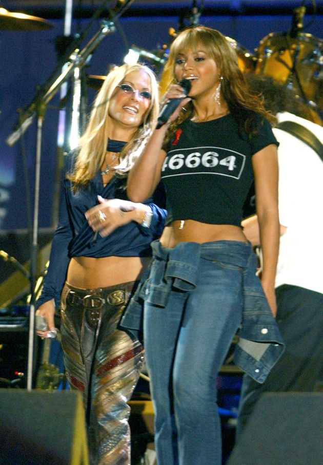 Performing with Beyoncé at a concert for Nelson Mandela in