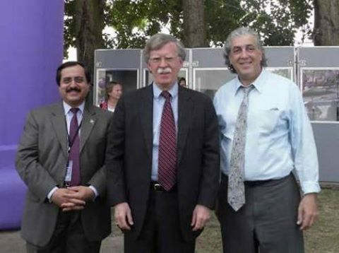 <strong>John Bolton with Mojahedin Khalq operatives </strong>