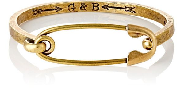 "Giles And Brother <a href=""http://www.barneys.com/product/giles-and-brother-safety-pin-i.d.-cuff-bracelet-503078342.html?utm_"