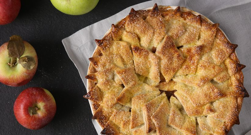 "Get our favorite <a href=""https://thefeedfeed.com/video/classic-apple-pie-with-a-shingled-crust"" target=""_blank"">Apple Pie Re"