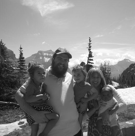 <p>The Bruk's at Glacier National Park</p>
