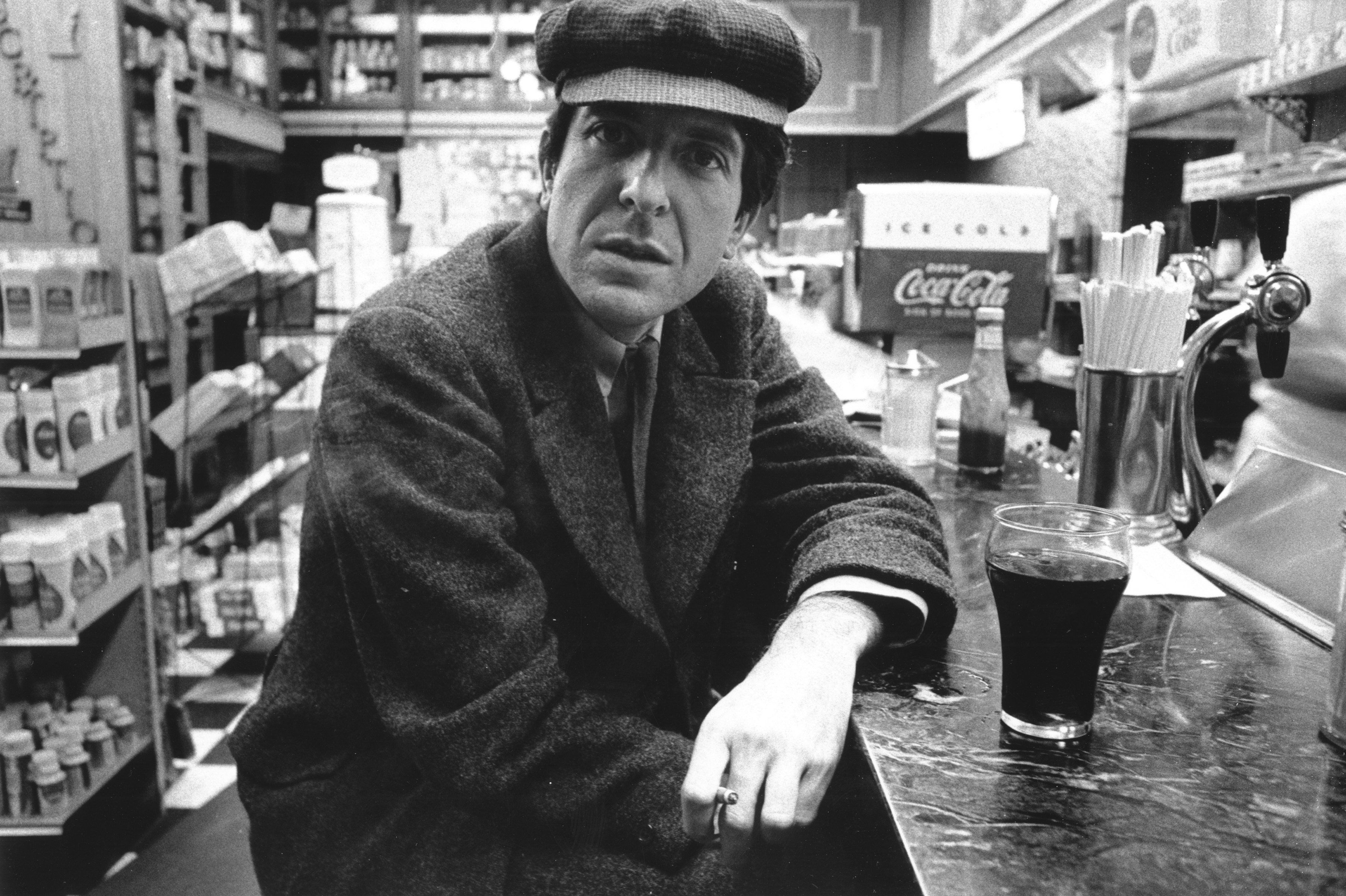 Canadian singer-songwriter Leonard Cohen, circa 1968.