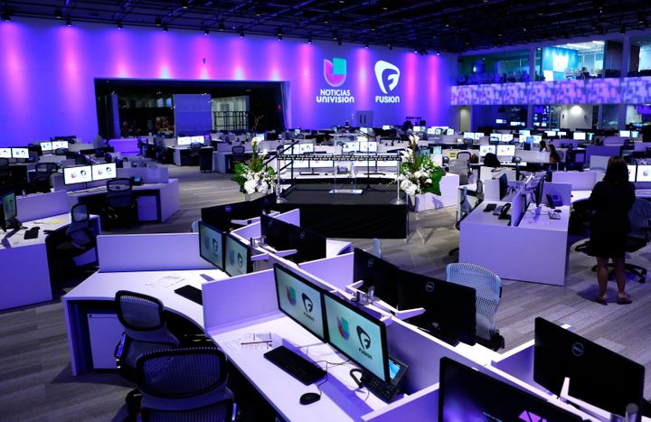 The newsroom for Univision and Fusion networks in Doral, Florida, on Aug. 28, 2013.