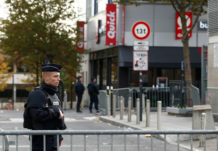 Police near the Stade de France on Nov.14, 2015, the morning after a series of deadly attacks in Paris.