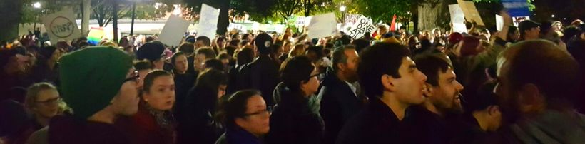 Protest against Trump, Nov. 9, Boston Common