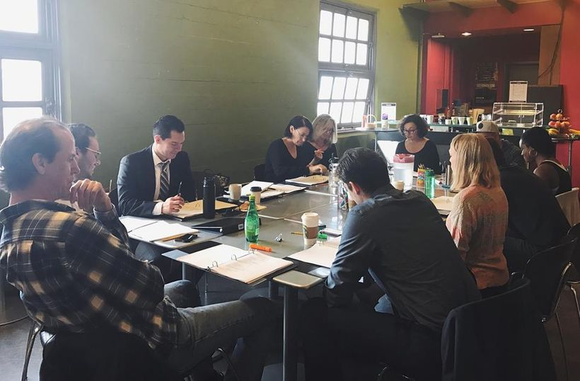 Bay area actors gather at Magic Theatre for the first table read of  <em><strong>Ivanka: A Medea For Right Now</strong></em>