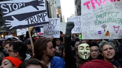 Days After Election, Anti-Trump Protests Still Bring Thousands To Streets Around
