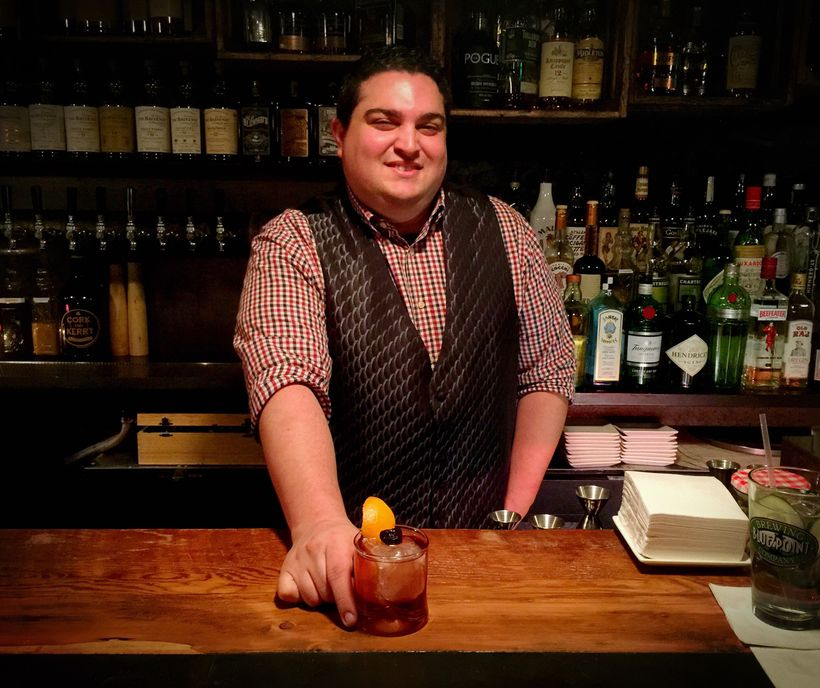 """<em>Bartender, Doug Brickel at </em>""""<em>Cork &amp; Kerry</em>""""<em> Floral Park</em>"""