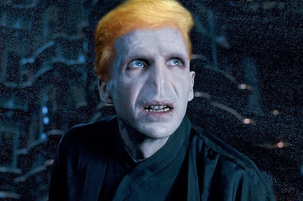 You see, Voldemort killed a bunch of made up people because their wizarding wasn't pure enough, and Donald Trump threatens th
