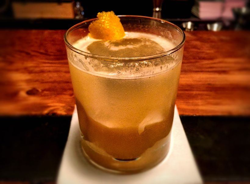 """Penicillin"" w/ Gosling's Ginger Beer"