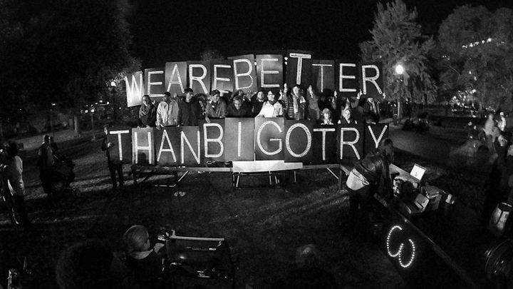 <em>Election night protest in front of the White House in Washington, DC.</em>