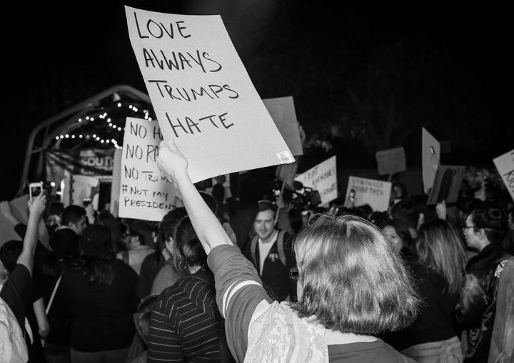 <em>San Antonio protesters.</em>