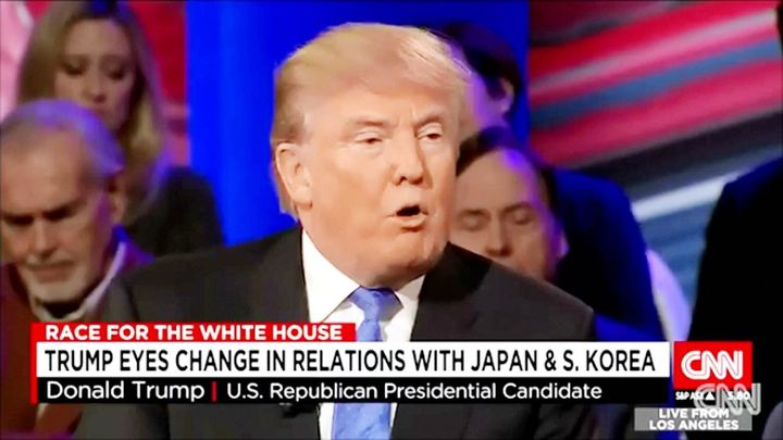 President-elect Trump views Japan and South Korea as free-riders of American led regional order
