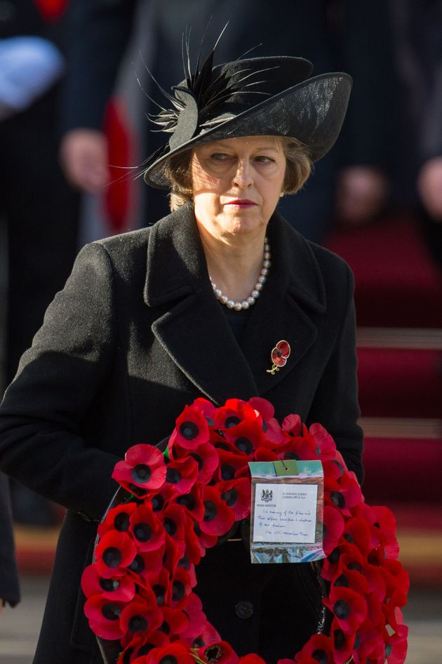 Prime Minister Theresa May during the annual Remembrance Sunday Service at the
