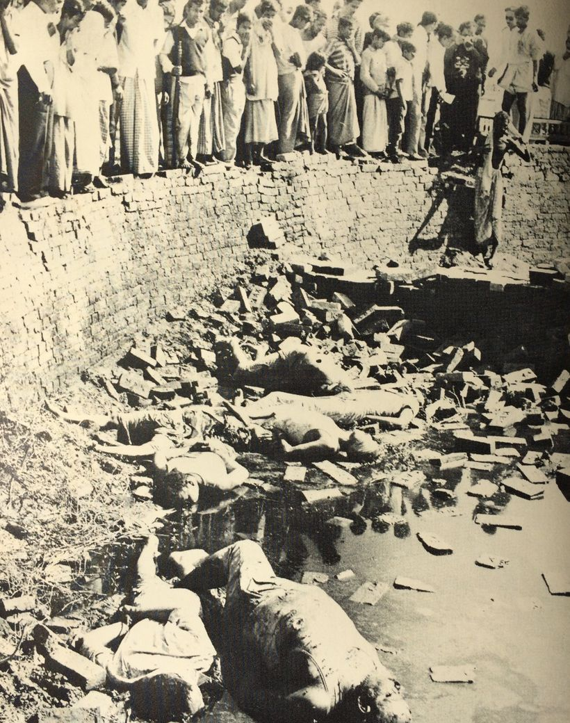 <em>My grandfather took this picture of intellectuals killed in Dhaka on December 14, 1971.</em> <em>He was an intellectual w