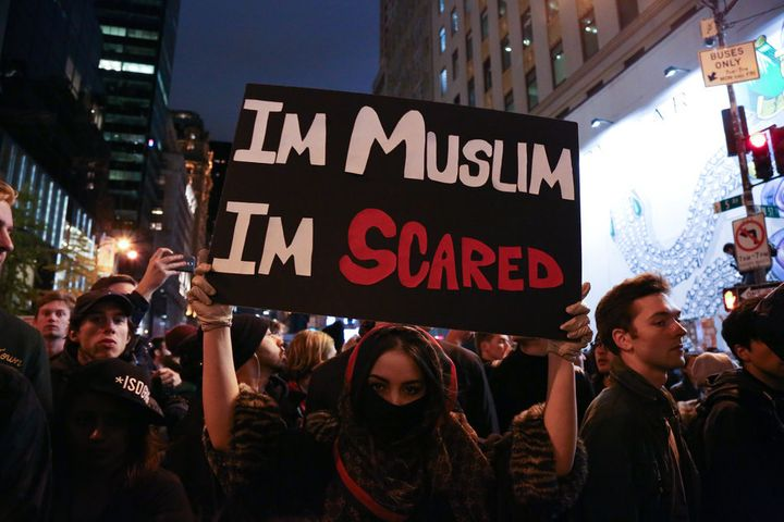 Americans (including Muslims) have taken to the streets around the country to protest against the results of the 2016 Preside