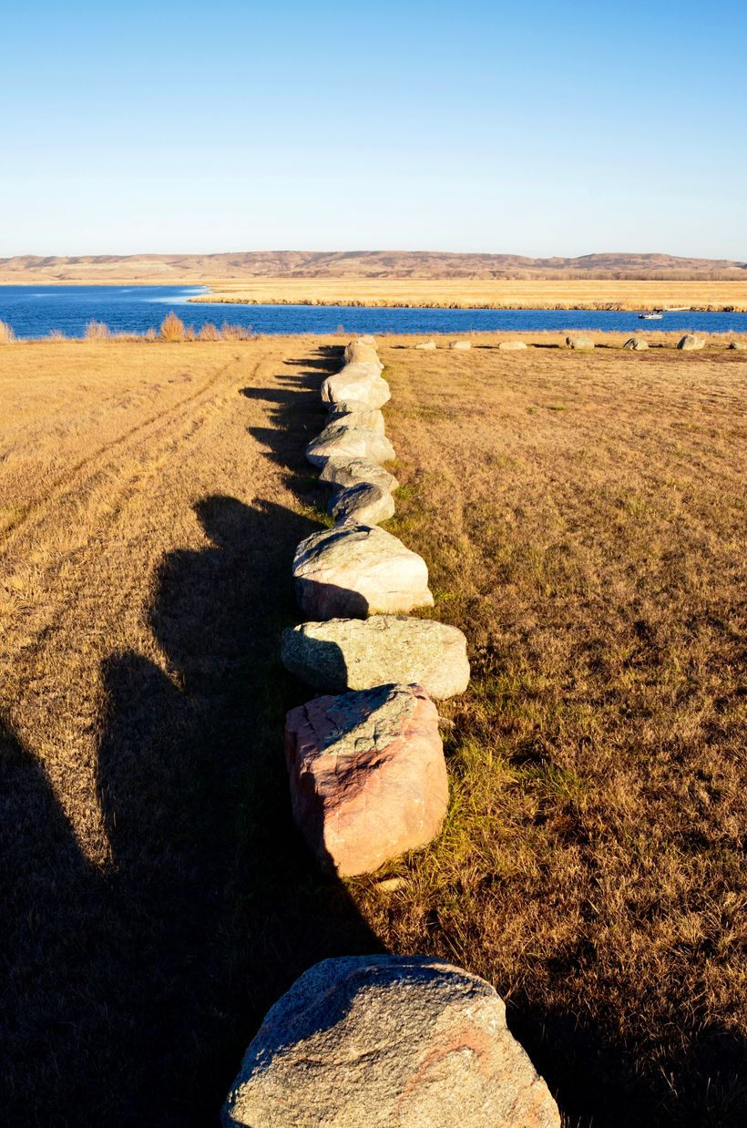Taken by ELVIA MENDOZA We followed the Missouri River from Bismarck south toward Standing Rock.
