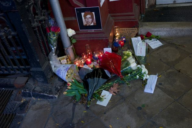 Tributes have been left for Leonard Cohen outside New York's Chelsea Hotel, where he once lived, and...