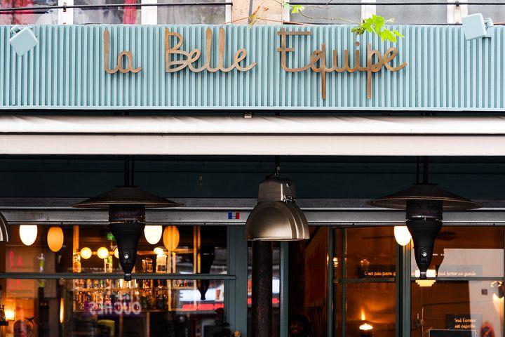 A view ofthe restaurant 'La Belle Equipe' on Nov. 04, 2016 in Paris.