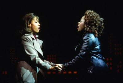 Pamela Isaacs and Lillias White in a scene from 1997's <strong><em>The Life</em></strong> (with music by Cy Coleman and lyric