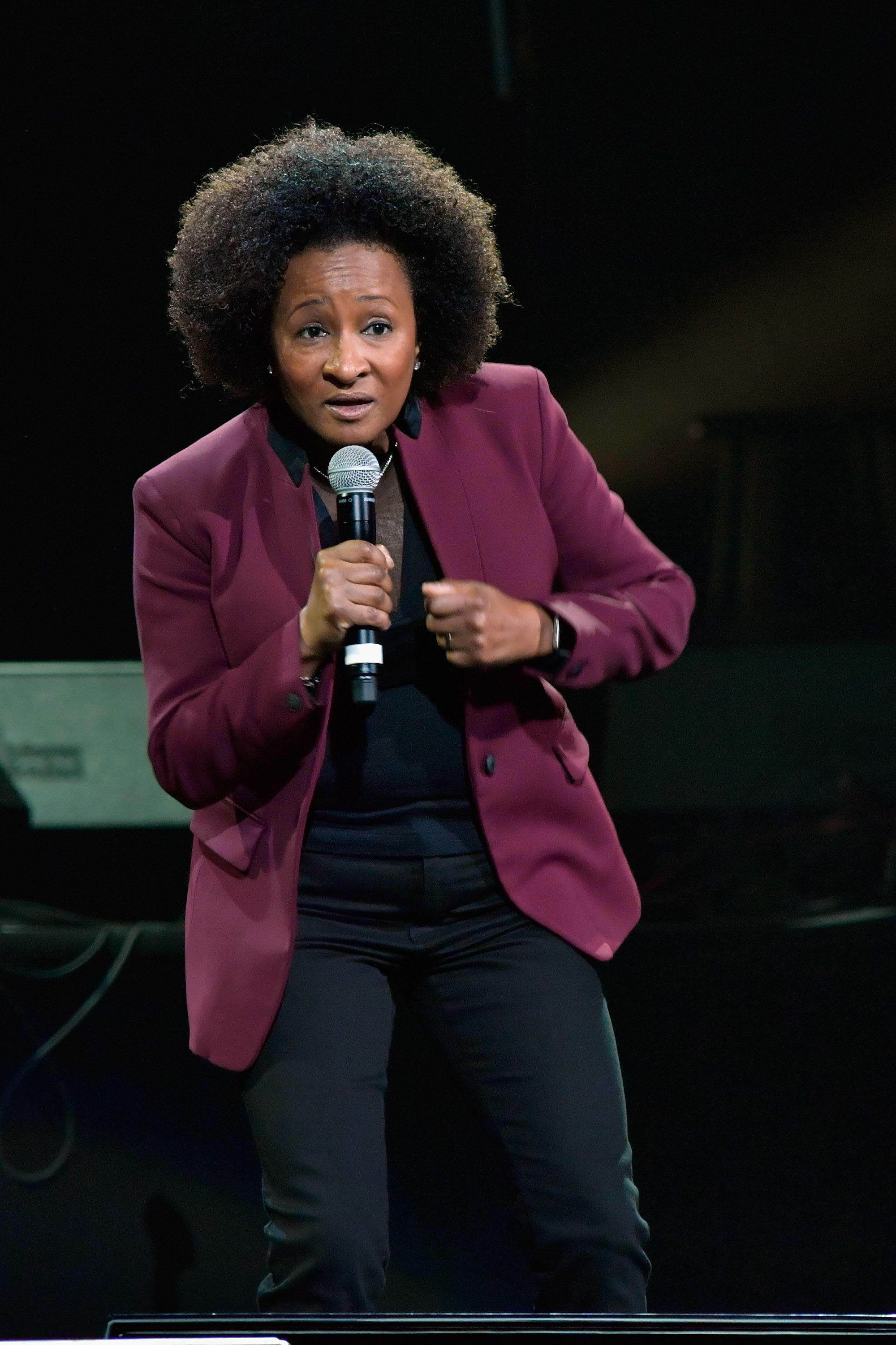 BOSTON, MA - NOVEMBER 12:  Wanda Sykes performs at the 22nd Annual Comics Come Home performance to benefit the Cam Neely Foundation for Cancer Care which provides comfort, support and hope to adult and pediatric cancer patients and their families at TD Garden on November 12, 2016 in Boston, Massachusetts.  (Photo by Paul Marotta/Getty Images)