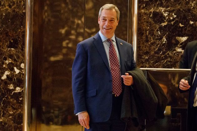 Farage toured Trump Tower for his near hour-long meeting with the
