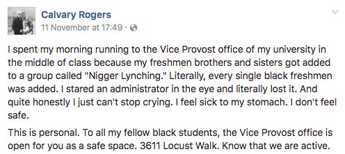 The student's Facebook post has been shared more than 11,000