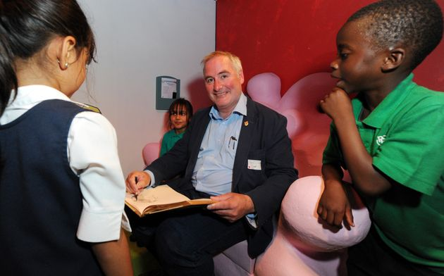 Childrens Laureate Chris Riddell attends the launch for 'The Fantastic World Of Dr. Seuss' at London'sDiscover...