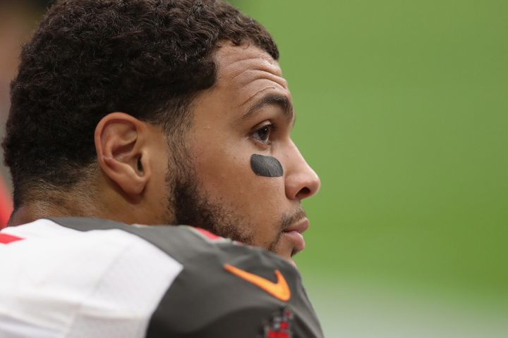 Mike Evans refused to stand during the national anthem on Sunday.
