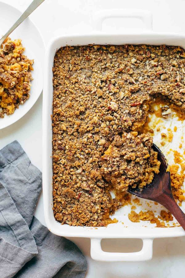 "<strong>Get the <a href=""http://pinchofyum.com/sweet-potato-casserole"" target=""_blank"">Sweet Potato Casserole with Brown Suga"