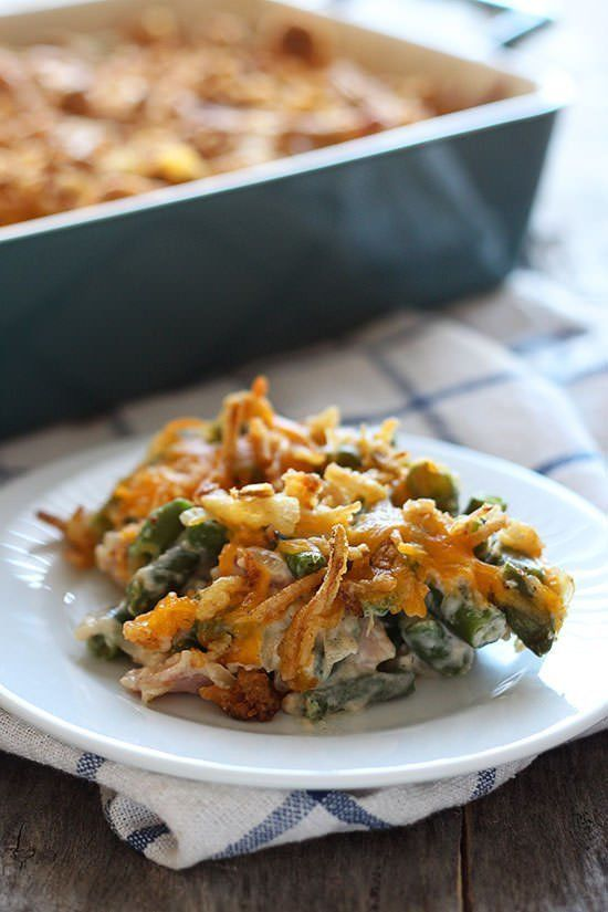 "<strong>Get the <a href=""http://www.handletheheat.com/cheesy-green-bean-casserole-bacon/"" target=""_blank"">Cheesy Green Bean C"