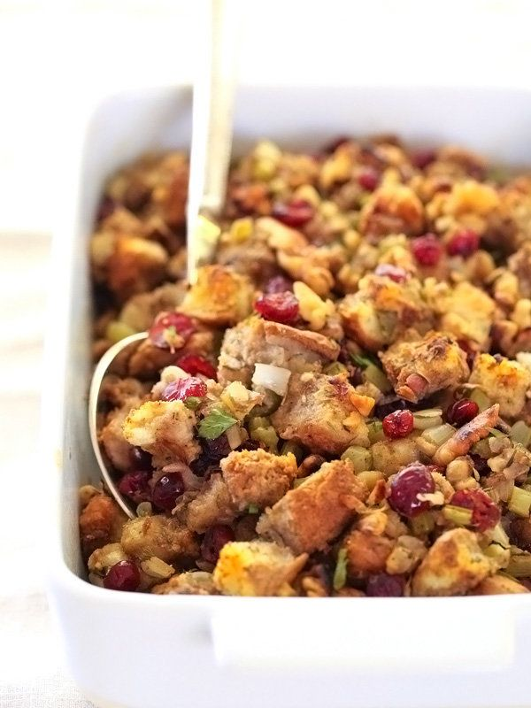"<strong>Get the <a href=""http://www.foodiecrush.com/cranberry-and-walnut-stuffing/"" target=""_blank"">Cranberry And Walnut Stuf"