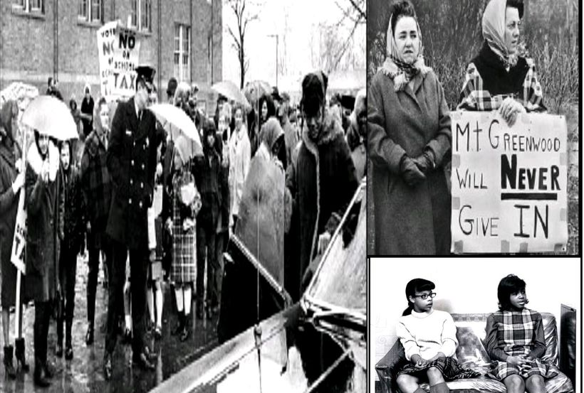 Mt.Greenwood 1968. Student feared-Racist White Mobs. (two students pictured)