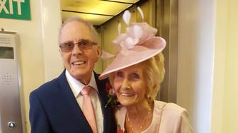 """Collect picture from Helen Andre and Davy Moakes' wedding day. See News Team story NTIWED: A couple who were forced to call off their engagement because the bride's parents did not approve of the groom have finally tied the knot - 65 years later. Davy Moakes, 86, and Helen Andre, 82, met and fell in love at Chesterfield Art College, Derbs., and Davy asked for Helen's hand in marriage in 1951. But Helen's parents, Aaron and Gertrude West, did not want their daughter to marry an artist and they called the wedding off two years later. Davy's father, Edward, conspired to make the lovers meet at a wealthy landowner's dance in 1956 where the sweethearts vowed to """"make it work""""."""