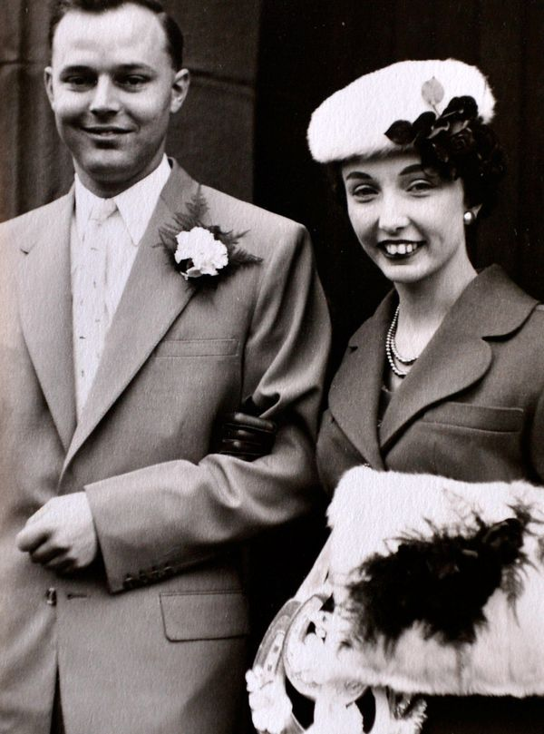 Collect picture of Helen Andre's first wedding to Tony (Maurice) Rollings who passed away at the age of 62 with cancer.