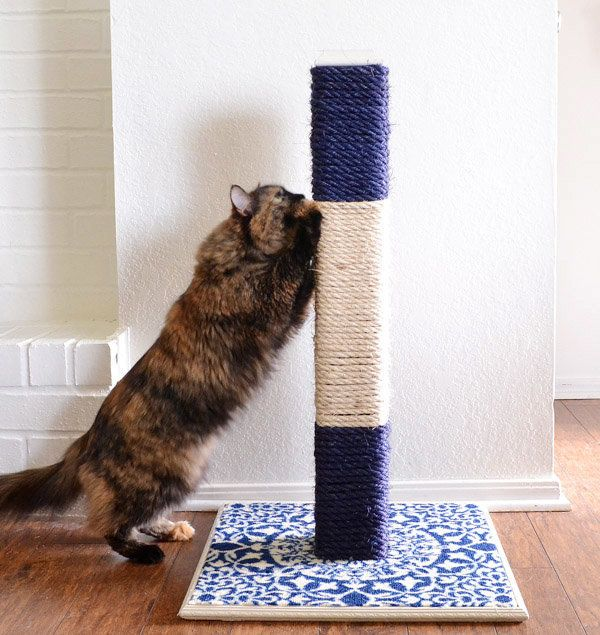There are cat scratching posts and then there are <i>cat scratching posts</i>! This dare-we-say elegant design by Allison at