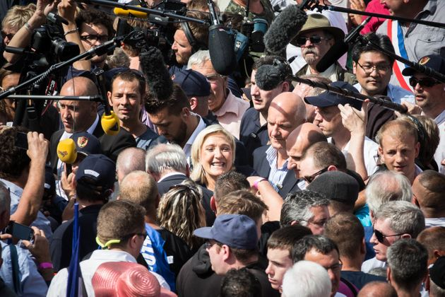 Marine Le Pen at a rally in September