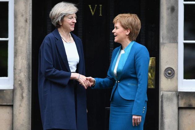 Theresa May (left) and Nicola Sturgeon have spoken about Brexit andits effect on