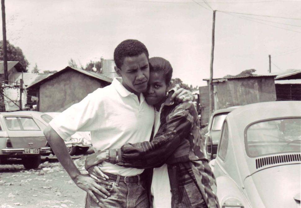 The Obamas in Kenya in 1992.