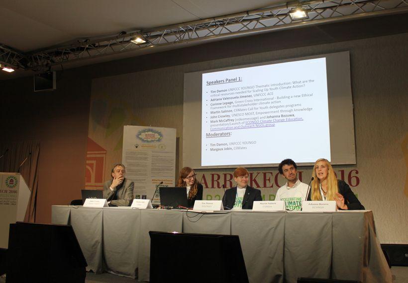 Speaking on an ECONGO panel in Marrakech.
