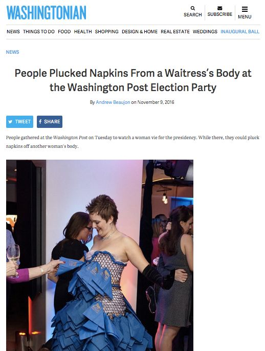 The Washingtonian story, and specifically photo, made its way around the Post's newsroom.