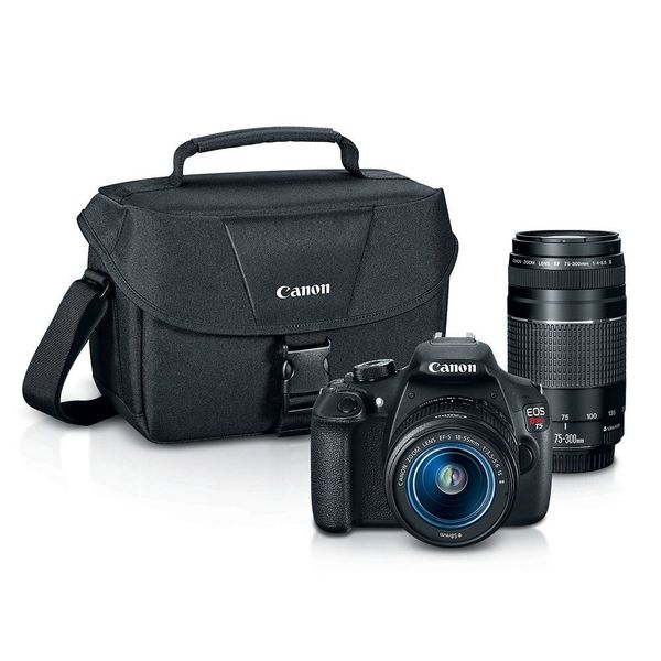 """This <a href=""""http://www.kohls.com/product/prd-2169710/canon-eos-rebel-t5-digital-slr-camera-with-bag-18-55mm-lens-75-300mm-l"""