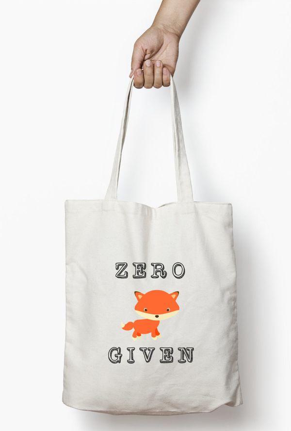 "Funny Fox Tote Bag, $21.50, <a href=""https://www.etsy.com/listing/262868929/sarcastic-tote-bag-funny-fox-tote-bag"" target=""_b"