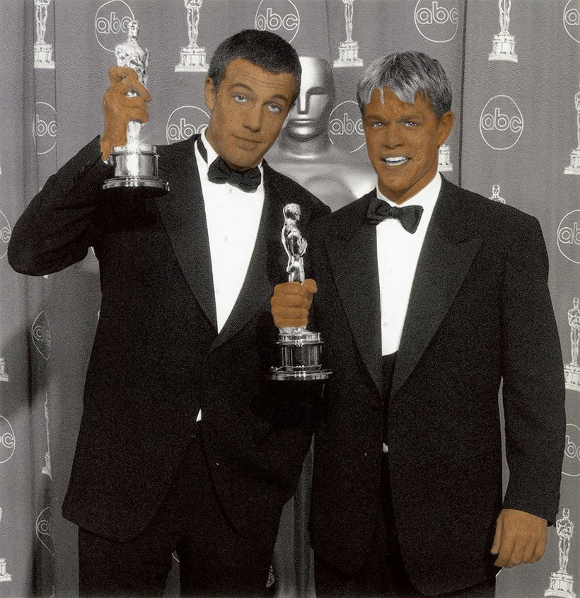 MEAM: Brown Oscars: Bernardo y Mateo. Gouache, photographic print, water color paper.