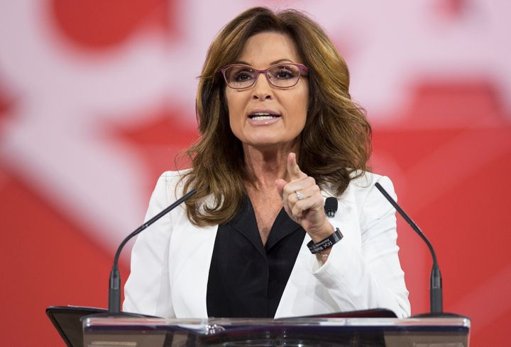 Former Alaska Gov. Sarah Palin (R) is one potential Donald Trump pick to head the Department of the Interior.
