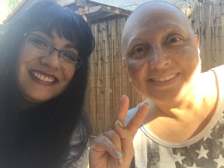 Melinda Lopez, with her sister Lupe Lopez
